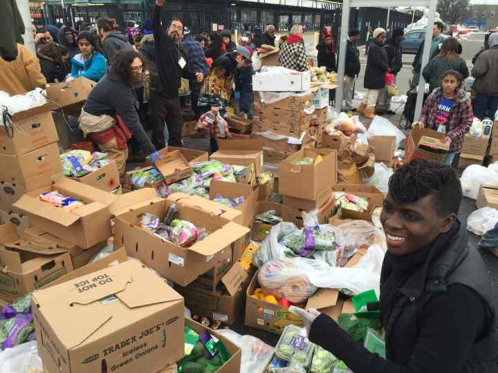 The produce section of the Community Solidarity Hempstead Food Share