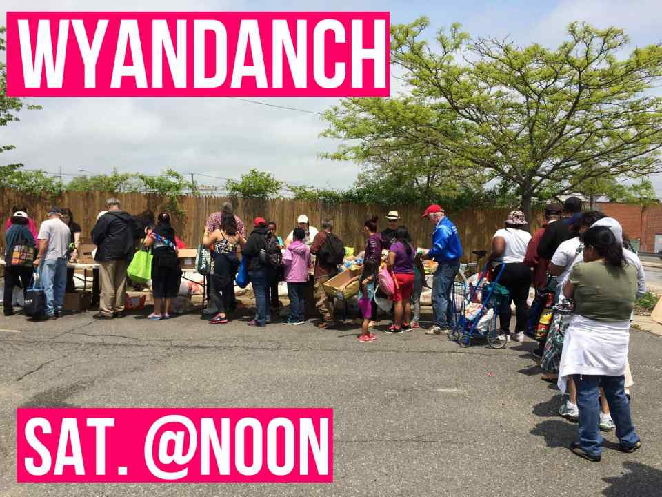 The Community Solidarity Wyandanch Food Shares shares free vegan groceries with the hungry on Long Island